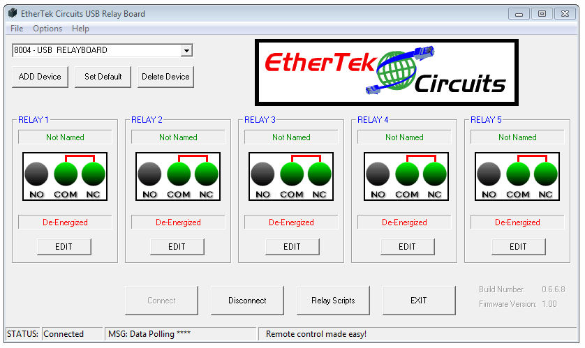 USB RELAY BOARD SOFTWARE